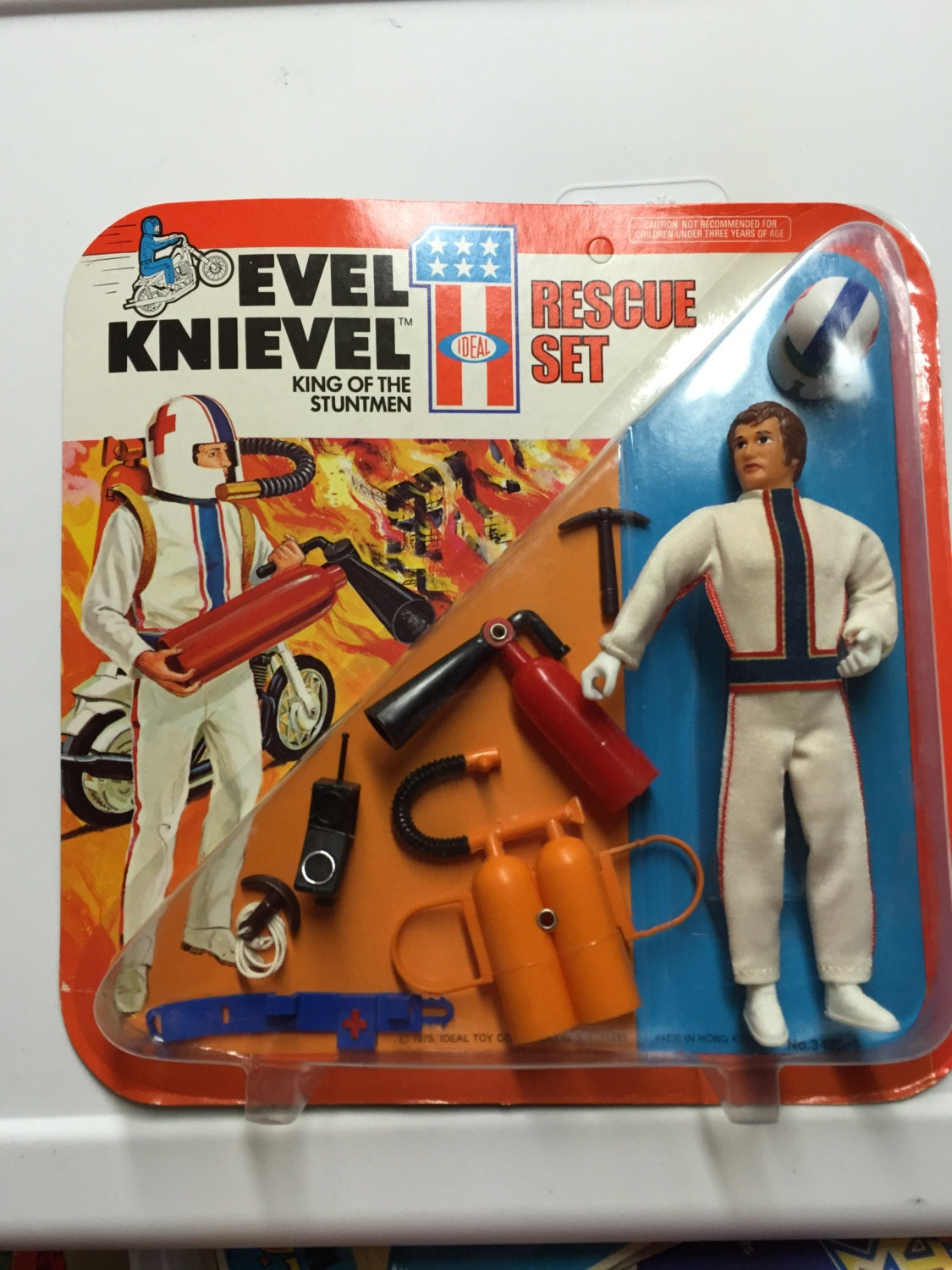 1975 ideal toys evel knievel rescue set new old by. Black Bedroom Furniture Sets. Home Design Ideas