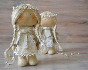 Little Angel-Textile Doll-Fabric Doll-Rag Doll-Home Decoration-Interior Doll-Christmas Gift-Winter Decor