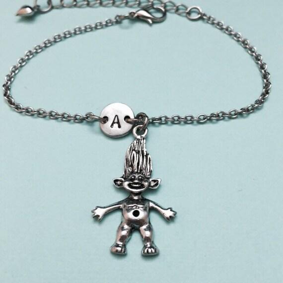 troll charm bracelet troll charm adjustable bracelet