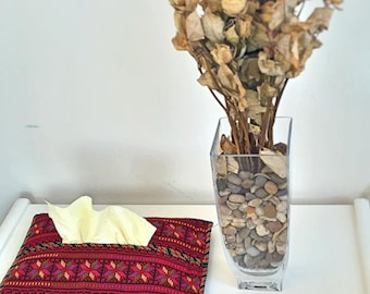 Palestinian Embroidered Tissue Holder -