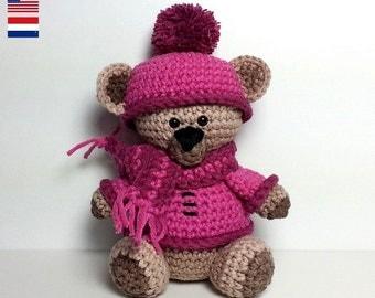Winter Bear, amigurumi crochet pattern