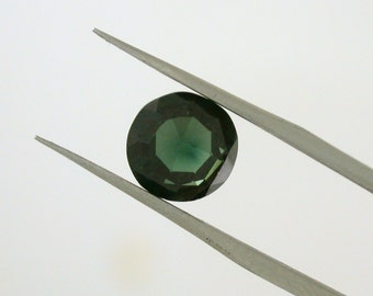 Round Faceted Green Tourmaline 2.52ct - Rich, velvet color - See item details for more info