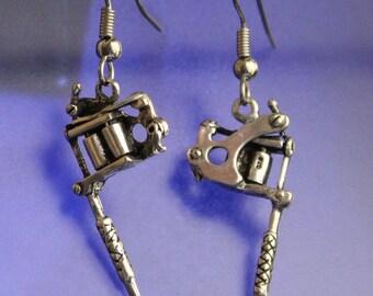 TaTToo Machine Earrings Sterling Silver