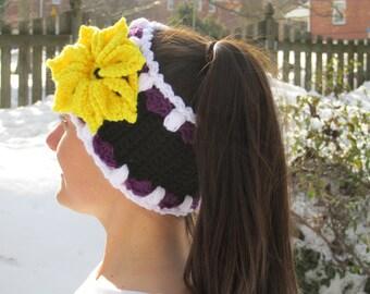 Go Ravens Bloomin' With Pride Headband Neckwarmer