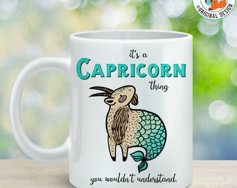 Coffee Mug Capricorn Astrological Sign Coffee Cup - Great Birthday Gift - Horoscope Mug