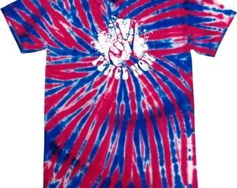 Peace Now Adult Patriotic Tie Dye Tee T-Shirt PEACENOW-1000P