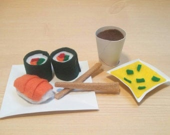 "Felt Sushi Set for 18"" Dolls"