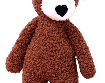 Teddy bear toy brown-bear-bear softie-brown bear-bear doll- stuffed bear toy
