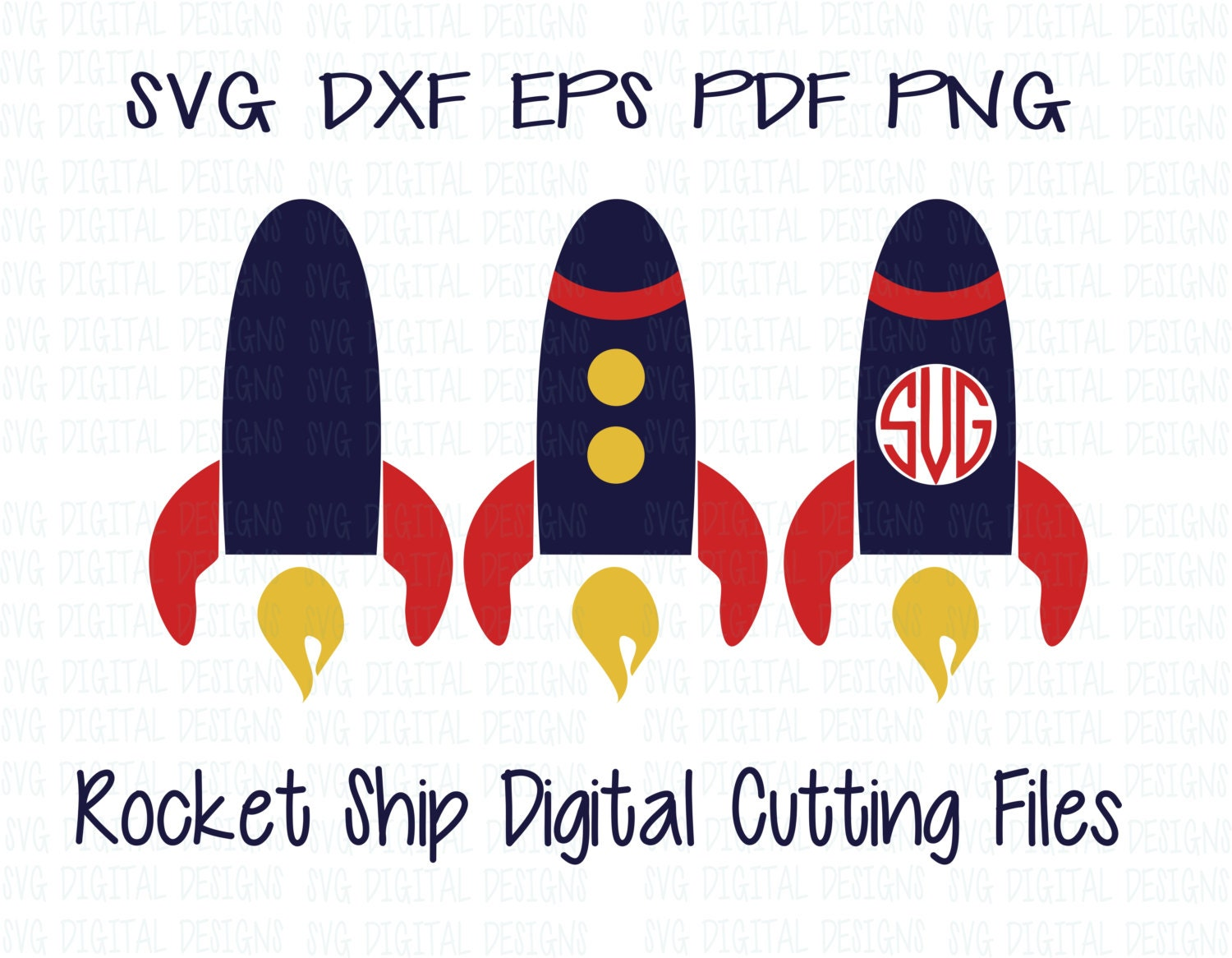 rocket ship monogram svg files rocket ship svg digital design