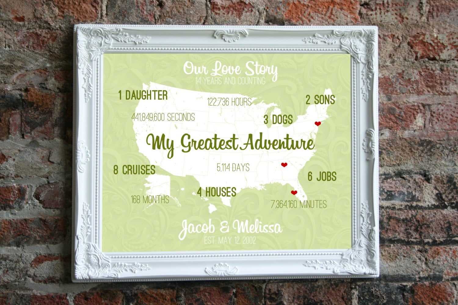 What Is The Gift For 14th Wedding Anniversary: 14th Anniversary Wedding Gift For Him 14 Year By SoleStudio