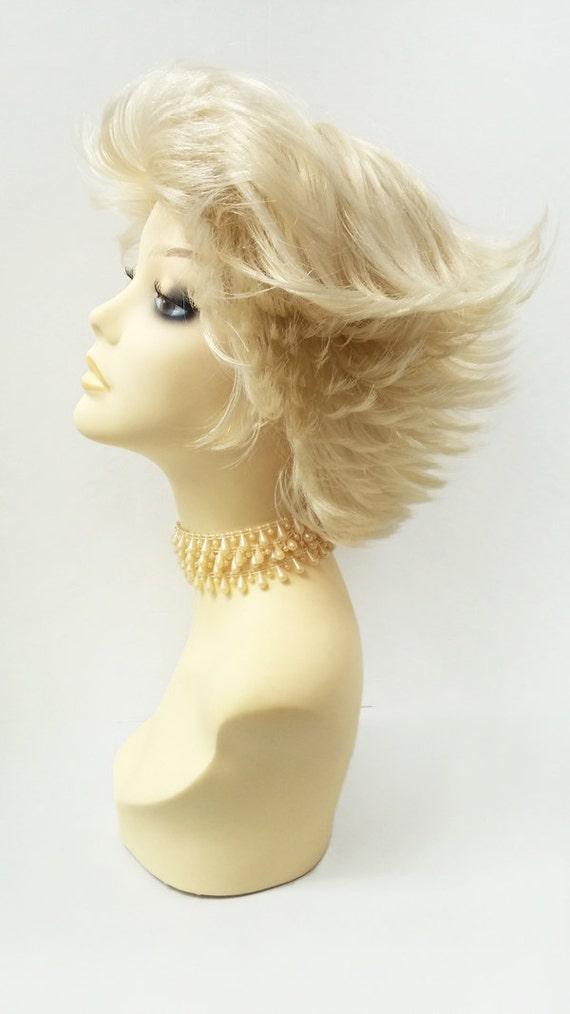 Blonde Short Straight Super Flip Wig Wind Blown Shag Hair