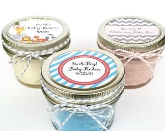 25 Baby Shower Favor Candles | Mason Jar Favors | Rustic Favors | Shower Favors | Custom Baby Shower Favor | Baby Shower Favors | Candles