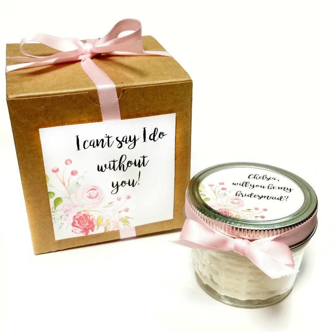 Wedding Gifts From Bridesmaid: Bridesmaid Favor Bridesmaid Candle Bridesmaid Gift