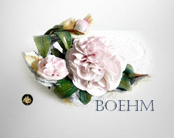 Boehm LARGE double peony porcelain flowers limited edition 1982