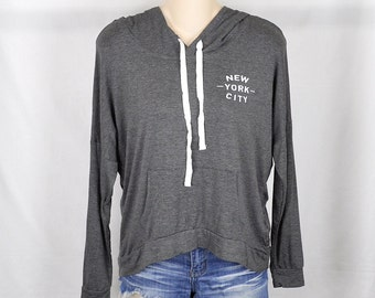 New York City - Womens Hoodie Sweatshirt, Grey, Womens Street  Style, Brandy Melville, Hipster, Active Wear, Tumblr, Lazy, Fast Shipping