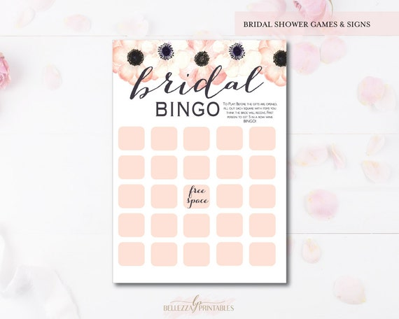 Anemone bingo bridal shower game bridal shower games print yourself il570xn solutioingenieria