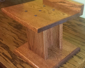 Custom Make Solid Oak Speaker Stands