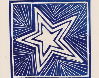 Dark Blue Star card