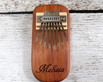 Personalized Kalimba, Gifts for kids, Thumb Piano, Music, Ring Bearer Gift, Instrument - Christmas