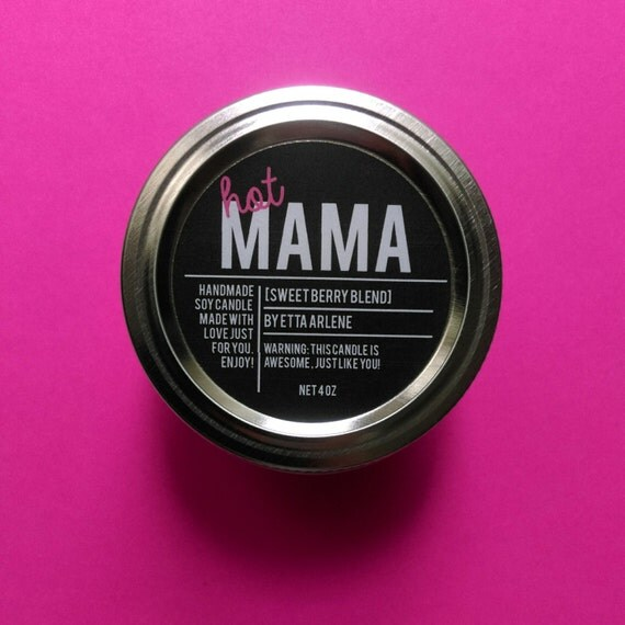 Hot Mama Scented Candle, Mother's Day Gift, Home Decor, Candles, Gift For Mom
