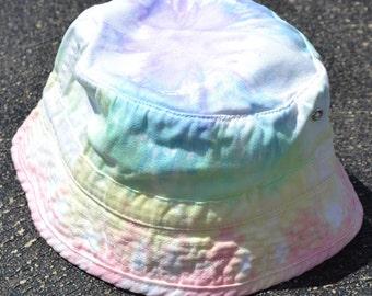 Tie Dyed Pastel Rainbow Bucket Hat Children's Sizes