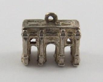 Arc de Triomphe du Carrousel Sterling Silver Vintage Charm For Bracelet