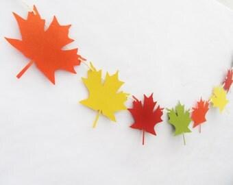 Fall Banner, Leaf Banner, Fall Mantle Decor, Fall Wedding Decor, Falling In Love, Fall In Love, Fall Photo Prop, Fall Garland, Leaf Garland