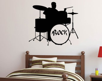 Drums Player Drummer Wall Decal