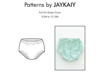 Diaper Cover Pattern - Baby Diaper Cover Pattern - Nappy cover - Bloomer pattern