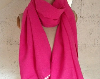 Pink Linen & Cotton 'Bermuda' Scarf