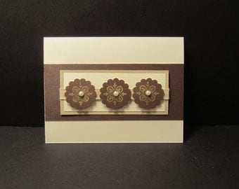 Triple Gold Scallop Circle Card