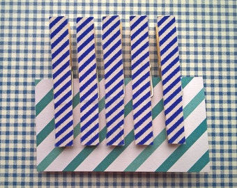 Fridge magnets, set of 5, refridgerator magnets, red polka dot, clothespin magnets