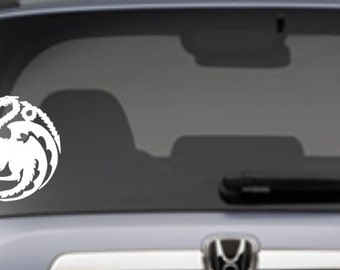 Targaryen dragon car decal, fire and blood, Game of Thrones