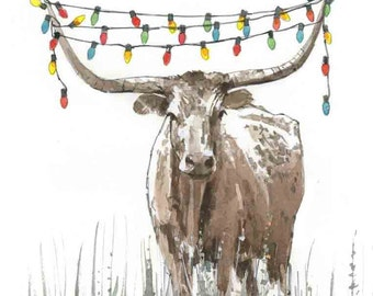 Cow Christmas Lights