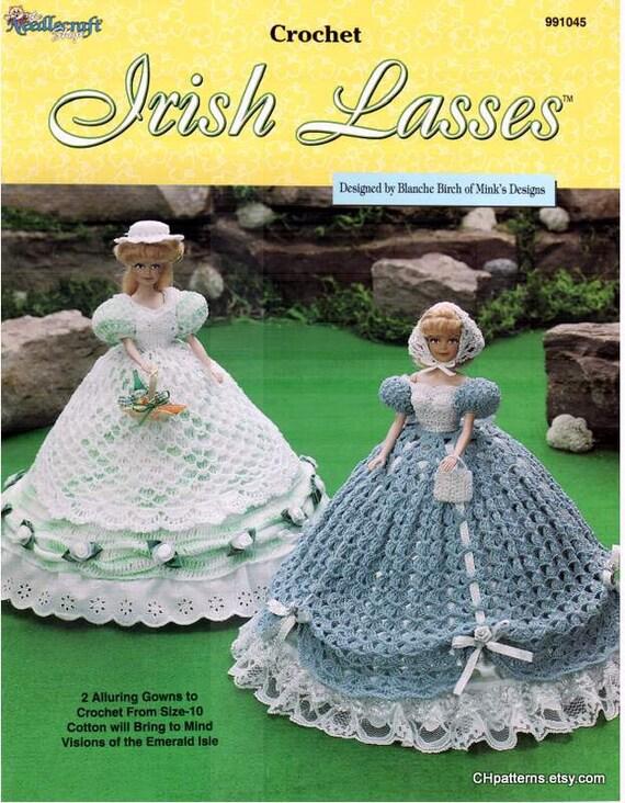 Irische Mädchen Faden häkeln Modepuppe Kleid Muster das