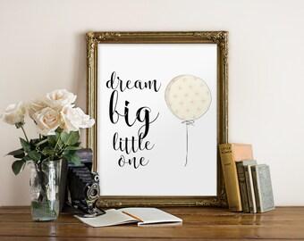 Nursery Wall art decor, Printable baby shower gift, Baby girl nursery decor, Playroom art decor, Girls room decor, Balloon print BD-908