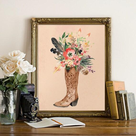 Country girl decor, Teen girl wall art poster prints, Teen girl gift ...