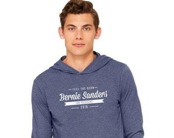 Bernie Sanders For President Long Sleeve Hooded T-shirt