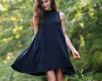 Cool Creek Tunic in Black