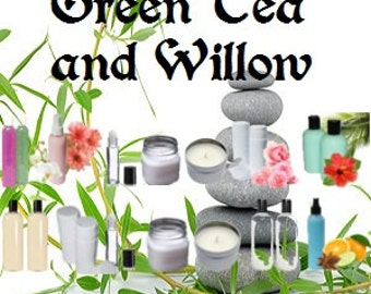 Green Tea and Willow - Scented Body Products & Candles - Shower Gel, Body Spray, Body Lotion, Body Powder, Perfume Oil, Scented Soap