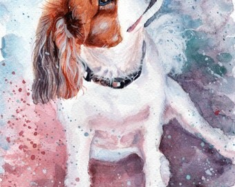 Valentine's day gifts Custom Dog portrait Custom Dog Painting Custom Pet portrait Watercolor Painting Original Painting Personalized Pet