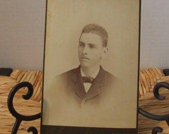 Vintage Handsome Young Man Photograph, 1900's Black & White Photograph, Antique Photograph, Edwardian Young Man, Handsome Victorian Man