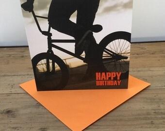 BMX / Bike Happy Birthday Card