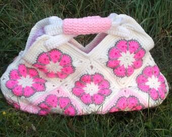 Crochet Flower Granny Square Bag