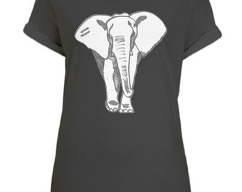 Elephant Print Bamboo T-shirt