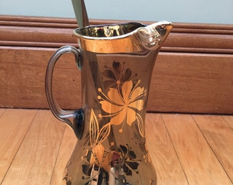 Vintage Gold Pitcher