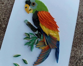 Parrot Wall Picture . Macaw Home Decor - Amazon Parrot Decor - Filigree Parrot - Jungle Art - Parrot Art - Children Room Decor - Aviary Bird