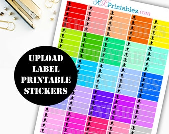 Youtube Upload Printable Planner Stickers // Erin Condren Life Planner / Kikki / Plum Paper Planner / Midori Insert / Planner Insert 00143