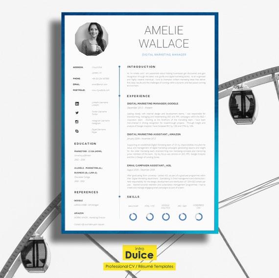 resume template cv template single page professional cv