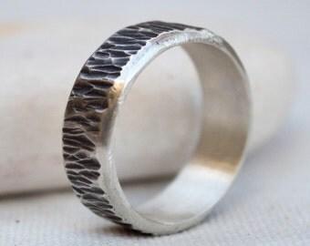 Mens ring, Silver band ring, Cool mens ring, Mens wedding band,